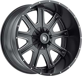 LRG Rims LRG105 Access Black Wheel with Milled Accents (24x12