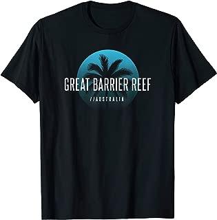 Cool Palm Tree Great Barrier Reef Australia Beach Souvenir T-Shirt