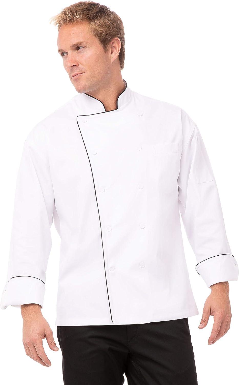 trend rank Chef Works Men's Max 78% OFF Executive Coat Sicily