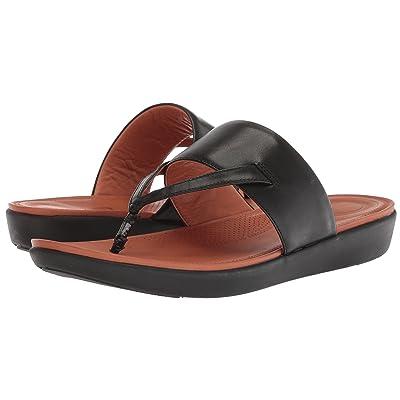 FitFlop Delta Toe Thong Sandals (Black) Women