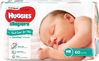 Huggies Platinum Diapers, Newborn, 60ct
