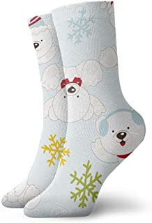 Luxury Calcetines de Deporte Polar Bears and Snowflakes Adult Short Socks Cotton Classic Socks for Mens Womens Yoga Hiking Cycling Running Soccer Sports