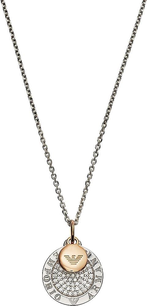 Emporio armani collana donna argento sterlina 925 EG3374040