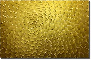 Metuu Oil Paintings, Golden Flower Color Gradients Paintings Modern Home Decor Wall Art Painting Wood Inside Framed Hanging Wall Decoration Abstract Painting Ready to hang 24x36inch