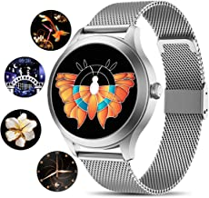 "Yocuby Upgrade Smart Watch for Women,1.54"" Full Touch Fitness Tracker Compatible with iOS,Android Phone, Sport Activity Tr..."