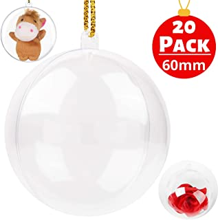 clear fillable ornaments