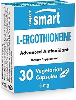 Supersmart - L-Ergothioneine 5 mg - Natural Mushroom Extract - Anti Inflammatory & Antioxidant Supplement - Protect Mitoch...