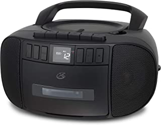 GPX BCA209B Portable Am/FM Boombox with CD and Cassette Player, Black (Renewed)
