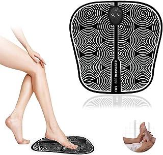 EMS Massaggiatore per Piedi,Massaggiatore Portatile, Elettrico massaggiatore Plantare Macchina, 6 Modalità,Stimolatore Mus...