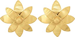 Tory Burch - Hammered Metal Willow Stud Earrings