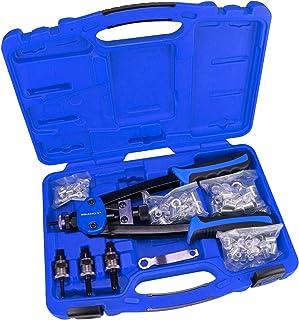 Haskyy® Professionella tunga nitstänger för blinda nitar och blinda nitmuttrar med 80 nitmuttrar – 20 av varje storlek M5,...