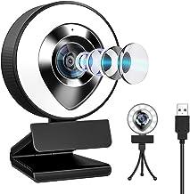 ウェブカメラ LEDライト フルHD 1080P 30FPS 高画質 200万画素 X-Kim webカメラ デュアルマイク内蔵 ノイズ対策 ストリーミング pcカメラ 外付け 広角 USBカメラ 三脚付き 小型 自動光補正 在宅勤務 テレワー...
