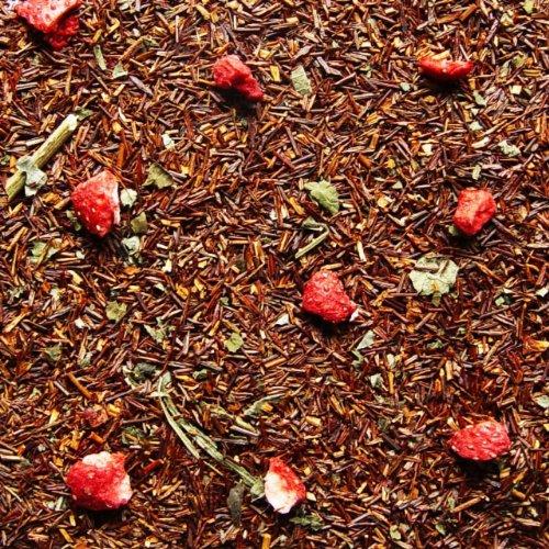 Rotbuschtee lose Rooibos-Tee Erdbeer-Sahne Erdbeer, Brombeerblätter Rooibos Tee Südafrika 250g