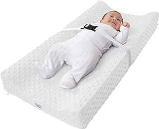Cambiador Bebé (Incluye Colchón + Forro Impermeable + Funda Lavable) Pañales (Blanco)