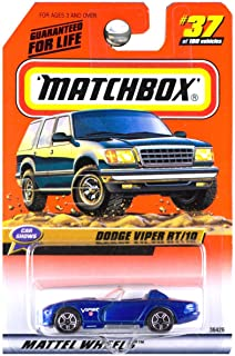 Matchbox 1999 Car Shows Dodge Viper RT/10 RT10 Convertible Blue White Stripes #37