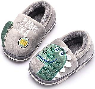 Gaatpot Chaussons Enfant Hiver Pantoufles en Coton Fille Garcon Peluche Mignon Maison Anti-dérapant Chaud Slippers Chaussures