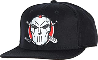 Teenage Mutant Ninja Turtles Hat- Embroidered Casey Jones Skull Hockey Mask Snapback Cap Black