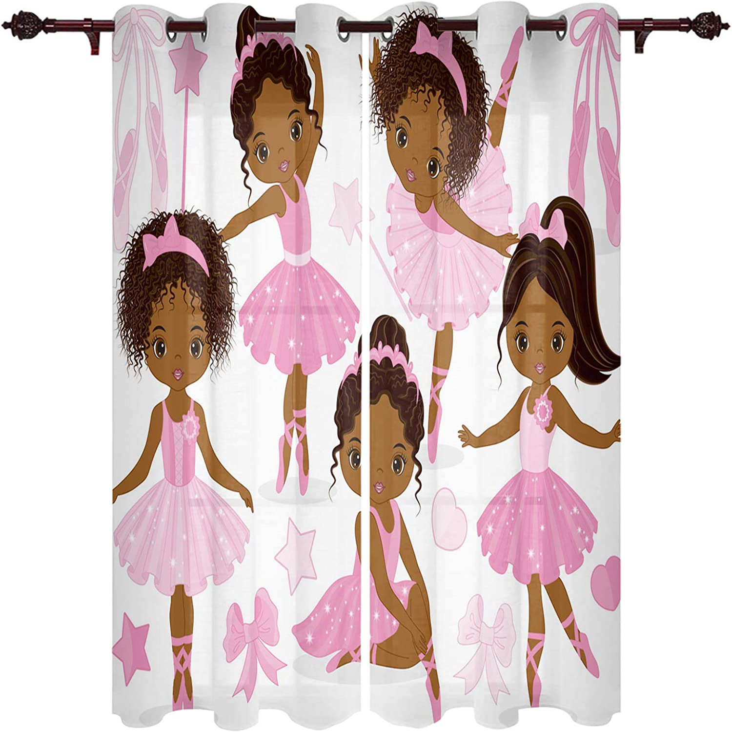 Infinidesign Ballet Cute Girl New arrival Window of Curtain Free shipping Treatment Set 2