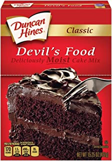 Duncan Hines Classic Cake Mix, Devil's Food, 15.25 Ounce (Pack of 12)