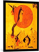 kunst für alle Framed Art Print: 16. Jahrhundert The Fiery acscension of The Prophet Elijah - Decorative Fine Art Poster, Picture with Frame, 25.6x31.5 inch / 65x80 cm, Black/Edge Grey