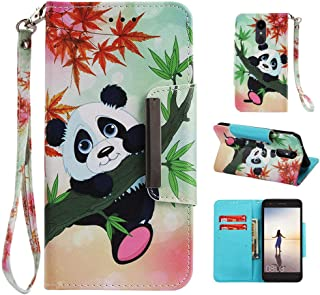 LG Aristo 2 Plus Case,Silicone Leather LG Fortune 2 Phone Case Wallet Cover with Card Slot Stand Strap,LG Tribute Dynasty Case for Women Men Kids,LG K8 Plus 2018 Case for LG LV3/Phoenix 4/Risio 3/LV1
