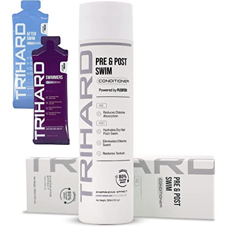TRIHARD Pre & Post Swim Conditioner | Swimmers Conditioner | Pre Swim Hair Protection | Chlorine Removal Solution