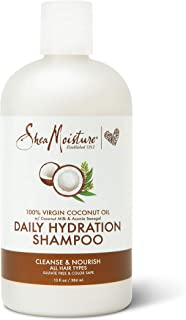 SHEA MOISTURE Virgin Coconut Oil Daily Hydration Shampoo, 384 ml, 13 Ounce (U-HC-12197)