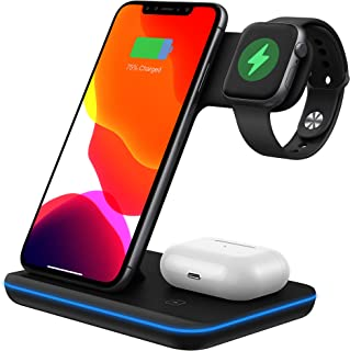 Wireless Charger 3 in 1 Wireless Charging Station Z5A 15W for Apple Watch, AirPods Pro/2, QI certification Magnetic Wirele...