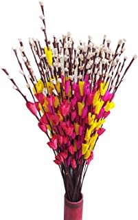 Fab n Style Natural Handmade Mini Lily Stick Bunch Hand Craft (Red)