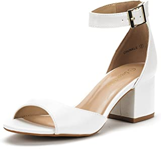DREAM PAIRS Women's Chunkle Low Heel Pump Sandals Ankle Strap Dress Shoes