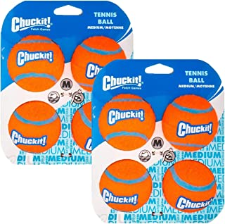 Chuckit! Tennis Ball, Medium, 8-Pack