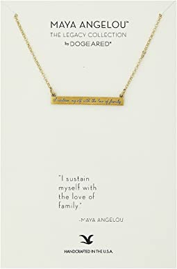 Dogeared - Maya Angelou: I Sustain Myself: ID Bar Necklace