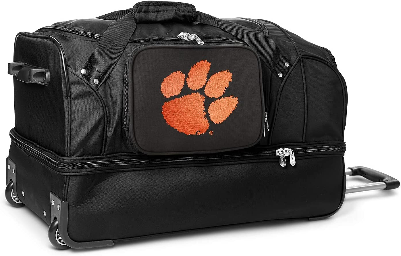 NCAA Max 79% OFF Clemson Tigers Rolling Los Angeles Mall Duffel Drop-Bottom Bag