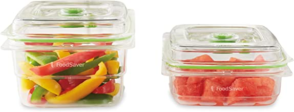 FoodSaver VS0640 3 & 5 Cup Fresh Vacuum Container Set, Clear