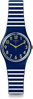 Swatch Women's Quartz Watch, Analog Display and Silicone Strap LN153
