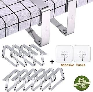 Home Xpert 4er juego de mesa de tela de clips est/á disponible en diferentes tama/ños f/ür Tischplatten bis 45 mm plexigl/ás de mesa y de techo con soportes de madera de plexigl/ás transparente