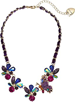Multi Stone Butterfly Frontal Necklace