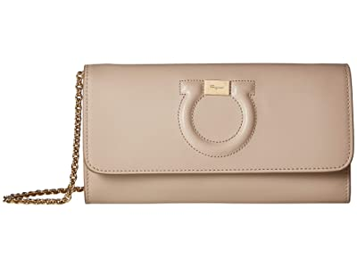 Salvatore Ferragamo City Wallet On Chain (Cumin) Handbags