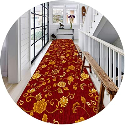 JIAJUAN Narrow Hall Hallway Runner Rug Low-Profile Stain Resistant Area Rugs Anti-Slip Living Dining Room Kitchen Floor Carpet Mat (Color : A, Size : 0.8x7m)