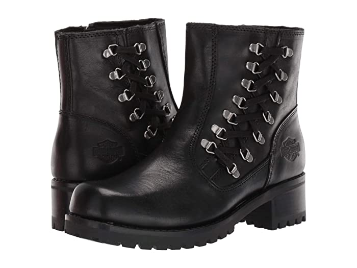 Steampunk Boots & Shoes, Heels & Flats Harley-Davidson Hackley Black Womens Boots $112.95 AT vintagedancer.com