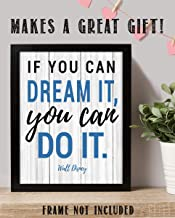"Walt Disney Quotes Wall Art- ""If You Can Dream It, You Can Do It!""- 8 x 10"