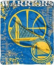 """NBA Golden State Warriors """"Dropdown"""" Raschel Throw Blanket, 50"""" x 60"""""""
