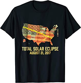 Total Solar Eclipse 2017 All Over America USA Map T-Shirt