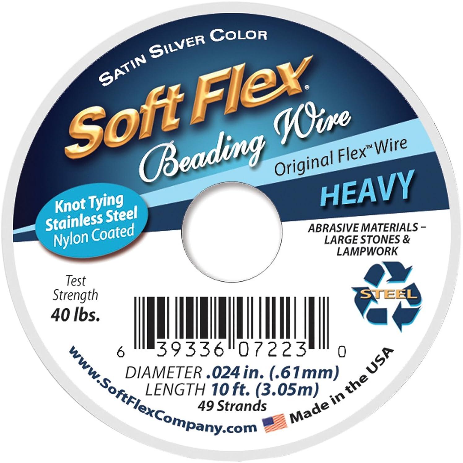 Soft Flex Wire 49-Strand.024 x 10', Silver