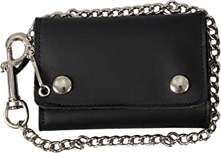 """Hot Leathers WLB2007 BLACK, 4"""" Extra Wide Wallet with Lobster Claw Clip"""