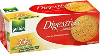 Gullon Digestive Wheatmeal Biscuits, Low Carb, 33% Less Fat 400GR