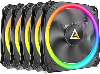Antec Prizm 5+C ARGB Case Fans, 5 Pack 120mm Quiet Computer Cooling PC Fans, Music Rhythm 5V ARGB Addressable Motherboard ...