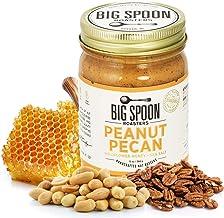 Big Spoon Roasters Keto Peanut Pecan Butter w/ Organic Wildflower Honey & Sea Salt - Raw Honey Low Sugar Peanut Butter - C...
