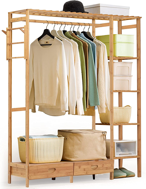 baodanla Bamboo Garment Coat Clothes Sale SALE% OFF Rack New life Hanging Clothing Garm