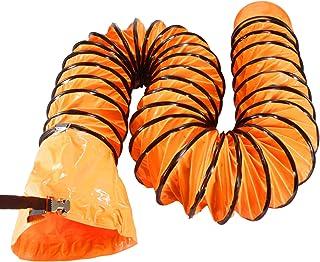 OOPPEN フレキシブルダクトホース プロスタイルツール 送排風機用ダクトホース 空気供給 防水 (200mm*5m, オレンジ)